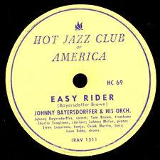 Johnny bayersdorffer & HIS ORCH. EASY RIDER (pas de gomme laque!) 78 tr/min x2858