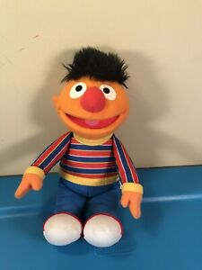 "Sesame Street Ernie Plush Doll 10"" 2013 Stuffed Animal/plush By hasbro playskool"