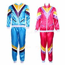 Adult 80s Tracksuit Shell Suit Scouser 1980s Womens Mens Fancy Dress Costume UK
