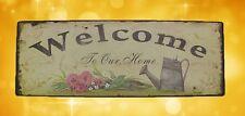 Wandschild Eisen Blechschild Welcome H.13x36cm Wandschild Eisen Werbung Reklame