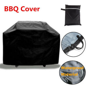 Large Black 145cm Heavy Duty BBQ Cover Waterproof Barbecue Patio Grill Protector