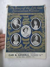 Story Life Boat Service Coronation Royal Family Illus Ships The Sea Queen 1953