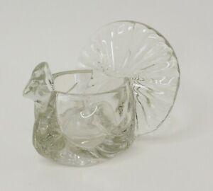 Turkey Peacock Candle Tealight Holder Votive Avon Decor Vintage Glass