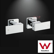 Watermark Brass Wall Pair 1/4 turn taps chrome basin water spout shower mixer