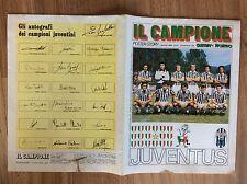 CALCIO JUVENTUS FC. POSTER STORY GUERIN SPORTIVO 19° SCUDETTO 1981 CON AUTOGRAFI