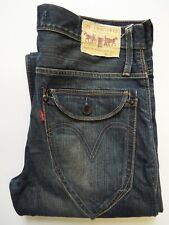 LEVI'S 503 JEANS MEN'S LOOSE STRAIGHT LEG W32 L34 MID BLUE STRAUSS LEVj369  #