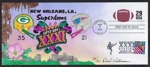 Peterman H.P Combo Packer, Patriot Super Bowl XXXI, Football Sc.#U631 First Day
