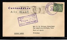 Panama 1931 First Flight Cover to Trinidad - Backstamp on reverse