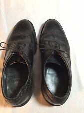 EXECUTIVE IMPERIALS Wingtip Dress Shoes By MASON 7.5EE BLACK Oxfords O'Sullivan