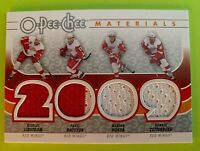 2009-10 OPC Quad Materials Red Wings - Lidstrom, Datsyuk, Hossa, and Zetterberg