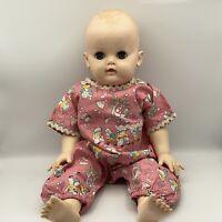 Vintage Effanbee Dy Dee Baby Doll 20 inch Blue Sleepy Eyes