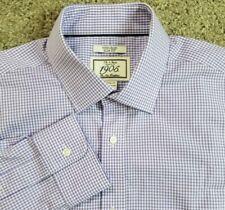 Jos A Bank 1905 15.5 33 Non-Iron Slim Fit Dress Shirt Purple Checks