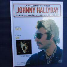 "Johnny Hallyday Collector Livre CD 1970 "" VIE ""  22,5 x 18 Cm Collection N°2"