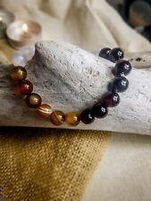 Brown Black White Agate Protection Magic Bracelet for Women, Men Gift Meditation