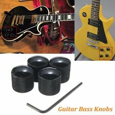 4PCS Black Metal Volume Tone Control Dome Style Electric Guitar Bass Knobs US