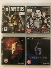 Infamous+Resident Evil 5+Resident Evil 6+Sleeping Dogs-PS3 Game Bundle - (547)