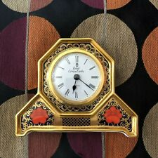 Lovely Royal Crown Derby Old Imari 1128 Mantel Clock