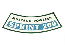 Mustang Air Cleaner Decal 200 Sprint 1966 - Osborn Reproductions
