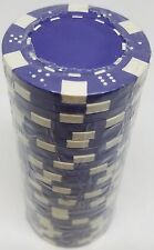Poker Chips (25) Purple Dice Mold 11.5 gram Clay Composite FREE SHIPPING *