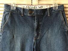 Lands End Original Fit Classic Waist Trouser Leg Jeans Women's 8 Petite