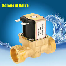 """1pc DC12V G3/4"""" Normally Closed Brass Electric Solenoid Water Valve Fast Install"""