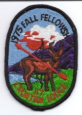OA (BSA) Croatan Lodge #117 - 1975 Fall Fellowship Patch