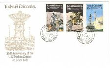 TURKS & CAICOS ILDS, 1977  25TH ANNIV. OF US TRACKING STATION , ILLUST. FDC