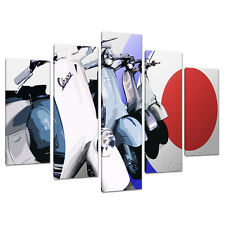 Set 5 parte CANVAS Wall Art FOTO RAGAZZI BEDROOM SCOOTER MOD 5149