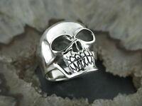 Silberring Gothic TOTENKOPFRING Totenkopf Rockabilly Skull Feingehalt Silber 925