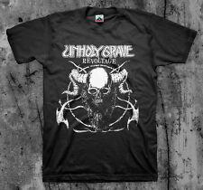 UNHOLY GRAVE 'Revoltage' T shirt (SOB Agathocles Mesrine Rot Insect Warfare)