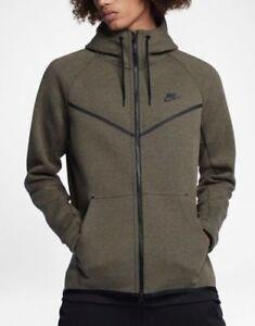 Nike MEN'S Sportswear Tech Fleece Windrunner SIZE MEDIUM BRAND NEW OLIVE GREEN