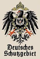 Deutsches Schutzgebiet German Blechschild Schild Tin Sign 20 x 30 cm FA0421