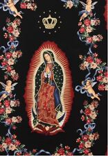 AH227 Our Lady of Guadalupe Virgin Mary Mexico Saint Cotton Quilt Fabric