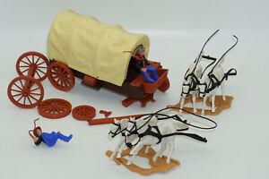 Timpo - Cowboy Coach Wagon Overland - 4 Horse Team, Spares or Repair