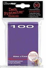 100 Ultra Pro Deck Protector Sleeves Purple (2) 50 count packs Pokemon Mtg