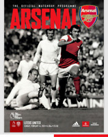 Arsenal v Leeds United Premier League 14-2-21 - Electronic Programme RARE