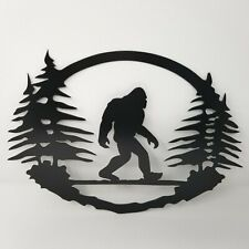 Bigfoot Plasma cut metal sign, gallery wall, art, home decor Black 11.75 x 15