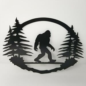 Bigfoot Plasma cut metal sign, gallery wall, art, home decor Black 11.75 x 15