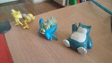 Pokemon Figures: Kadabra, Omastar, Snorlax