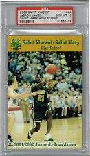 2002 LEBRON JAMES SAINT VINCENT SAINT MARY HIGH SCHOOL RC PSA 10 GEM MINT RARE!