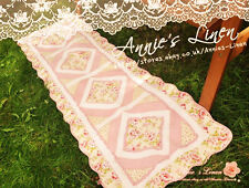 Country Patchwork Quilted Laura Ashley Fabric Bath/Bed/Floor Runner/mat/rug MM34