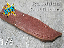 1/6 Brown Genuine Leather Bowie Knife Sheath Long Blade