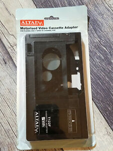 VHS-C MOTORIZED CASSETTE ADAPTER CAMCORDER PLAY VHSC VIDEO TAPE ON ANY VHS VCR