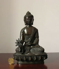 Tibet Tibetan Buddhism Bronze Medicine Buddha Old Statue