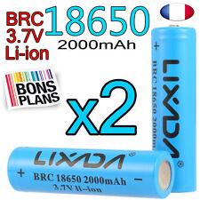 2 PILE RECHARGEABLE 18650 Li-ion 3.7V 2000Mah BATTERIE LIXADA • DEUTSCH •