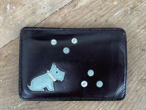 Vintage Radley Brown Leather Credit Card Oyster Card Travel Card Holder