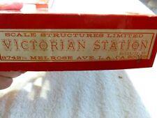 Victorian Station - Scale Structures - Craftsman Vintage OOP Original Box NIB