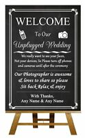 Chalkboard Photo Booth Point Left Vintage Personalised Wedding Sign Poster