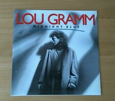 "RARE Lou Gramm Midnight Blue 1987 UK 7"" Promo Sticker Ex/Ex+ Classic Rock AOR"