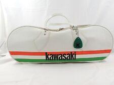 Vintage 1960's Vinyl KAWASAKI White Red Green Strip Bag K Tokyo Hang Tag